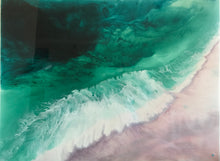 Bronte undercurrent . Green and Pink Abstract. Original Artwork. 90x120 cm