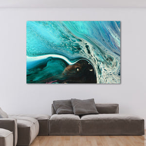 Abstract Seascape. Rise Above Inlet 2 Tropical. Art Print. Antuanelle Tropical Artwork. Limited Edition Print