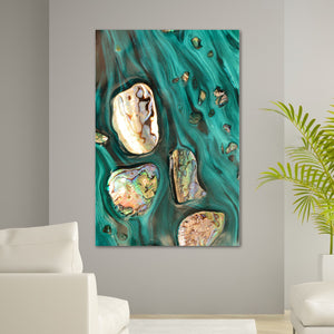 Abstract Art. Rise Above Tide 3 Coastal Shells. Art Print. Antaunelle 6 Shells Artwork. Limited Edition Print