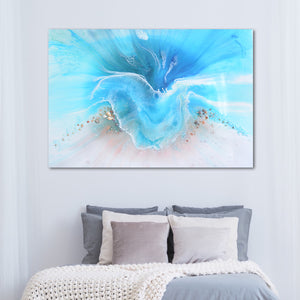 Abstract Ocean. Light Blue. Coogee Vibe 2. Art Print. Antuanelle 4 Ocean Artwork. Limited Edition Print