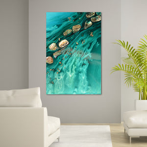 Abstract Ocean Artwork. Rise Above Seashells 1. Art Print. Antuanelle 2 Limited Edition Print