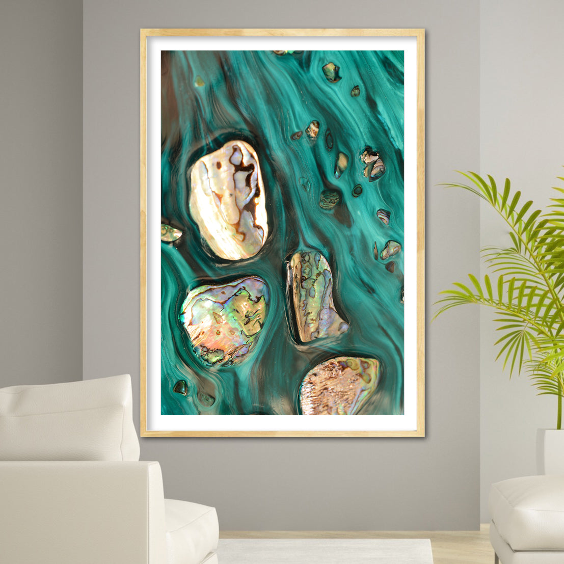 Abstract Art. Rise Above Tide 3 Coastal Shells. Art Print. Antaunelle 4 Shells Artwork. Limited Edition Print