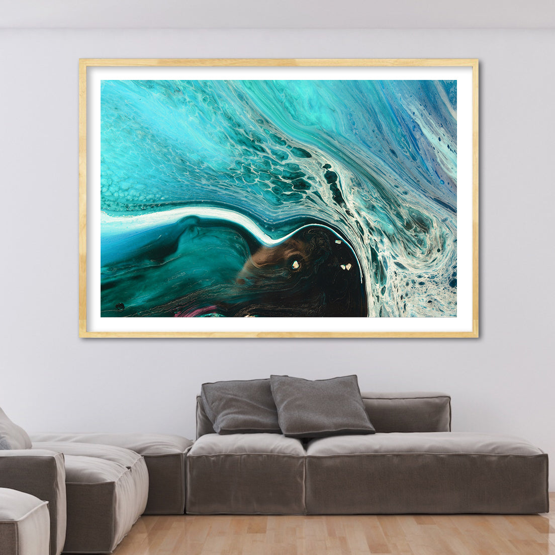 Abstract Seascape. Rise Above Inlet 2 Tropical. Art Print. Antuanelle 4 Tropical Artwork. Limited Edition Print