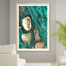 Load image into Gallery viewer, Abstract Art. Rise Above Tide 3 Coastal Shells. Art Print. Antaunelle 4 Shells Artwork. Limited Edition Print
