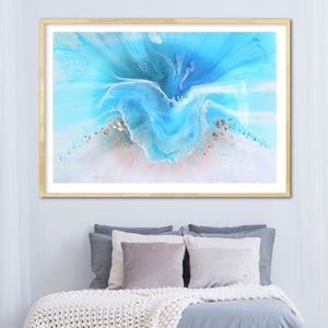 Abstract Ocean. Light Blue. Coogee Vibe 2. Art Print. Antuanelle 6 Ocean Artwork. Limited Edition Print