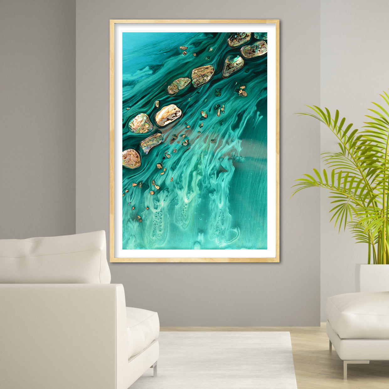 Abstract Ocean Artwork. Rise Above Seashells 1. Art Print. Antuanelle 4 Limited Edition Print