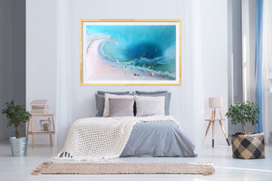 Abstract Ocean. Tropical Teal and pink. Bounty. Art Print. Antuanelle 3 Bounty Limited Edition Print