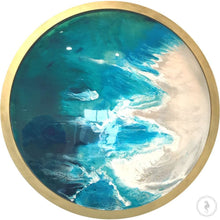 Load image into Gallery viewer, Round Ocean Resin Art - CUSTOM ABSTRACT OCEAN ARTWORK 3 COMMISSION Seascape - Portal to the