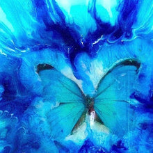 Load image into Gallery viewer, Abstract Tropical Butterfly. Blue Original Artwork. Antuanelle 5 Artwork