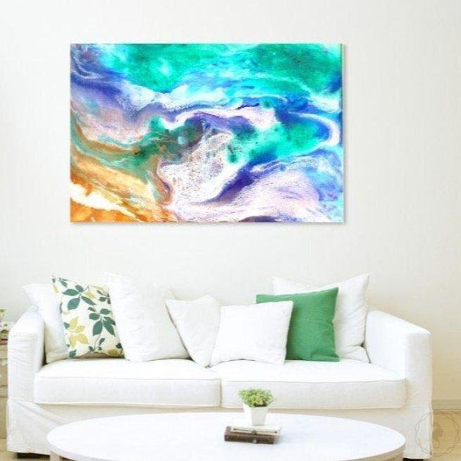 Abstract Artwork. Purple and Green Ocean. Balmoral Dream. Antuanelle. 3 Original COMMISSION - Custom Artwork