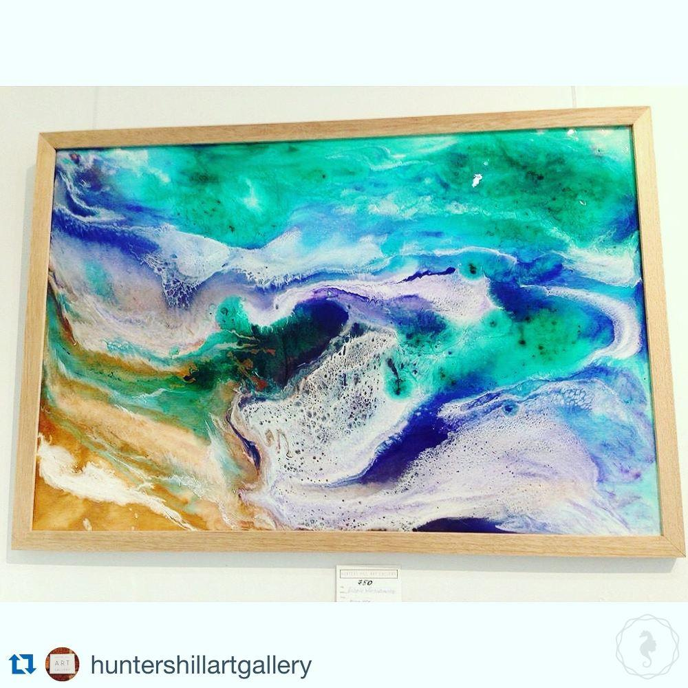 Abstract Artwork. Purple and Green Ocean. Balmoral Dream. Antuanelle. 5 Original COMMISSION - Custom Artwork