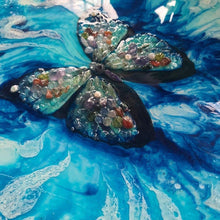 Farfalla Marina. Abstract Blue Morpho Butterfly Artwork - SOLD