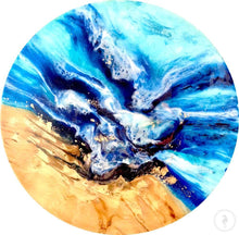 Load image into Gallery viewer, Original Artwork. Abstract shoreline. Mosman wave. Antuanelle 2 Beach. Artwork