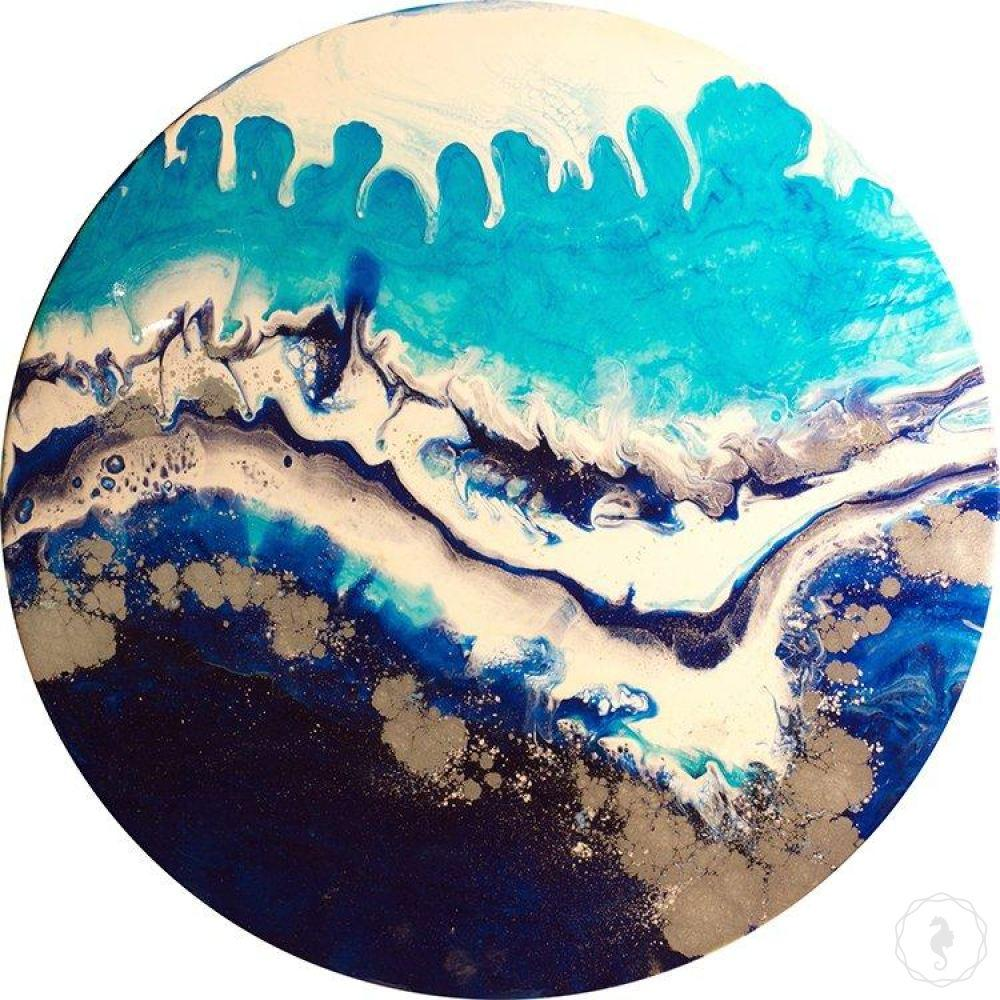 Custom Artwork. Abstract Ocean. Original Sydney Harbour. Antuanelle 1 COMMISSION - Artwork