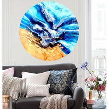 Load image into Gallery viewer, Original Artwork. Abstract shoreline. Mosman wave. Antuanelle 3 Beach. Artwork