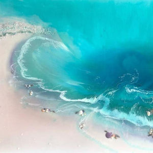 Tropical Bounty. Abstract Seascape. Original Artwork - SOLD