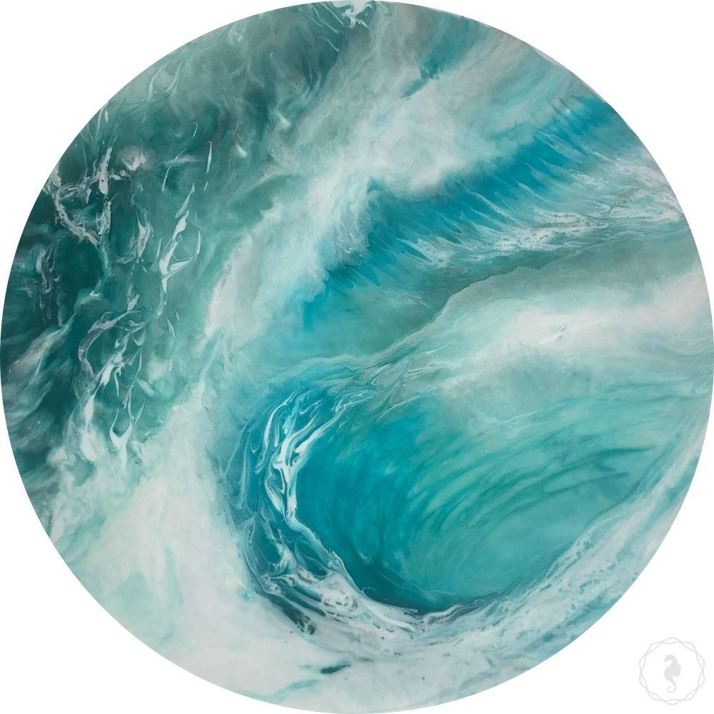 Custom Made. Contemporary artwork. Abstract Tide. Pacifica. Antuanelle 1 Wave. Original Artwork. COMMISSION - Artwork