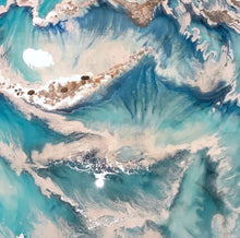 Load image into Gallery viewer, Coastal Resin Artwork | ANTUANELLE | Wonderland 4. Original Abstract Wave