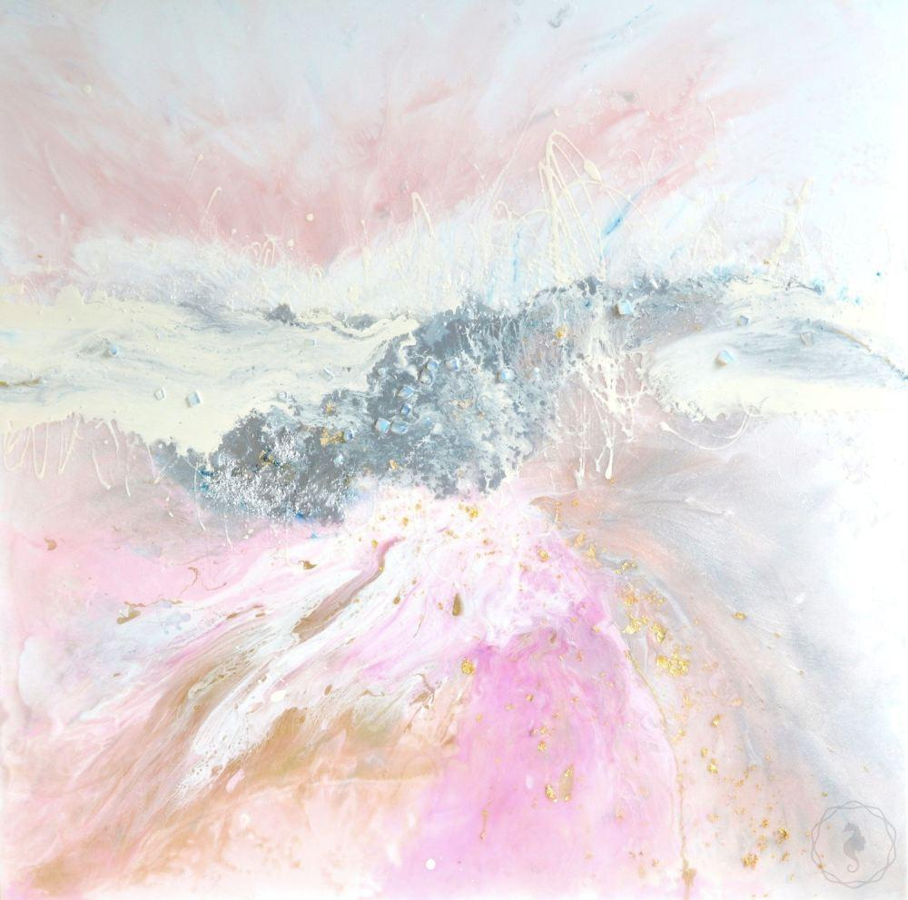 Pink Blush. Abstract Artwork. Angelic Dreams. Antuanelle 3 Original COMMISSION - Custom Artwork