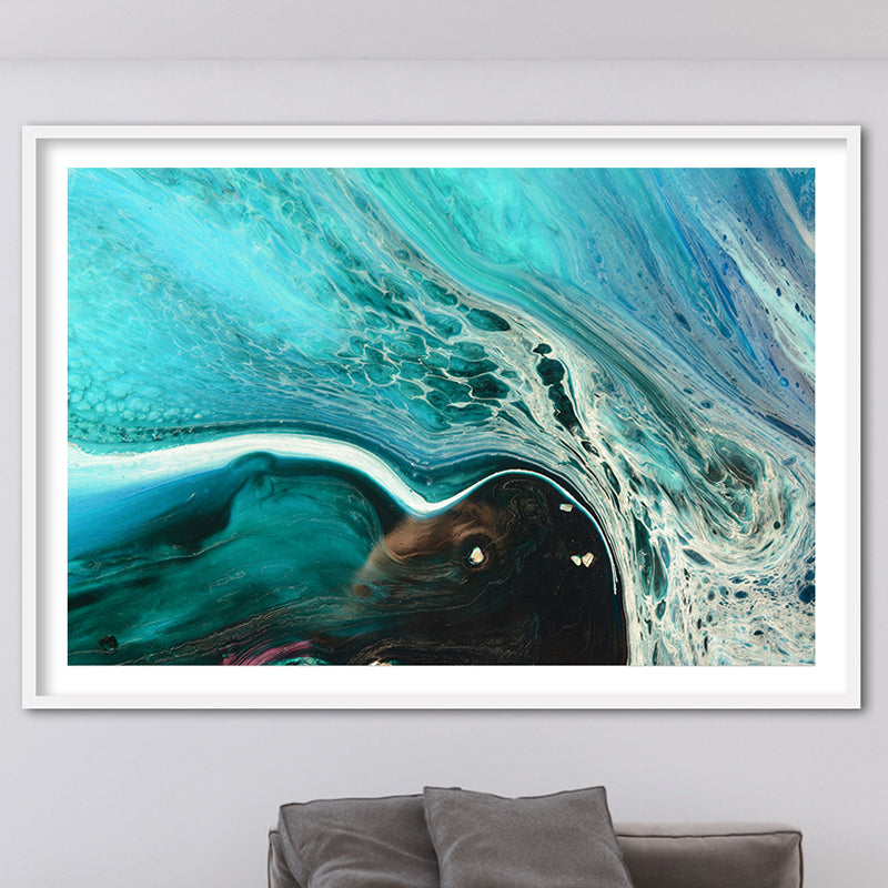 Abstract Seascape. Rise Above Inlet 2 Tropical. Art Print. Antuanelle 1 Tropical Artwork. Limited Edition Print