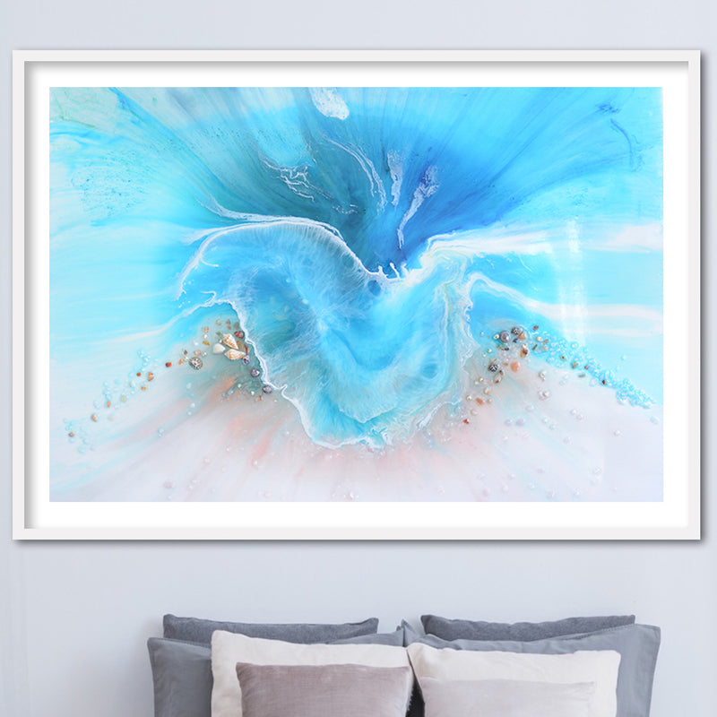 Abstract Ocean. Light Blue. Coogee Vibe 2. Art Print. Antuanelle 1 Ocean Artwork. Limited Edition Print