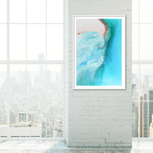 Load image into Gallery viewer, Abstract Coastline. Serenity 1 Ocean Artwork. Art Print. Antuanelle 4 Durdle Door Limited Edition Print