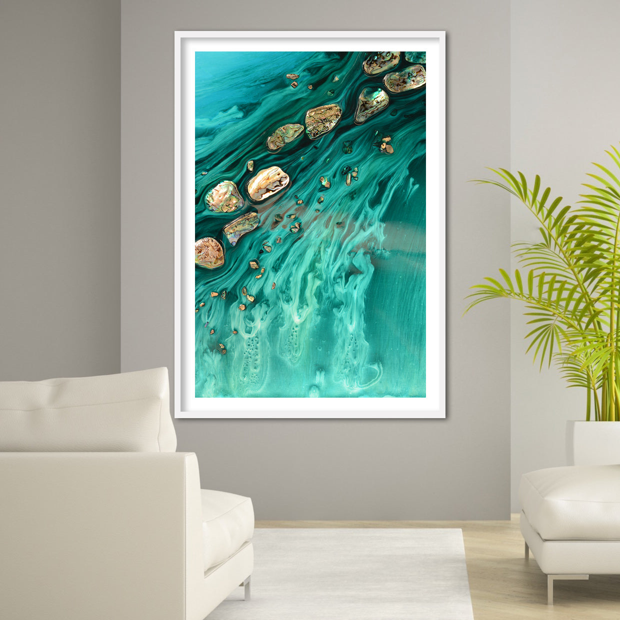 Abstract Ocean Artwork. Rise Above Seashells 1. Art Print. Antuanelle 3 Limited Edition Print