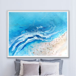 Abstract Seascape. Teal Ocean. Bali Utopia 4. Art Print. Antuanelle 1 Limited Edition Print