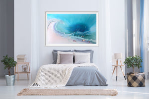 Abstract Ocean. Tropical Teal and pink. Bounty. Art Print. Antuanelle 2 Bounty Limited Edition Print