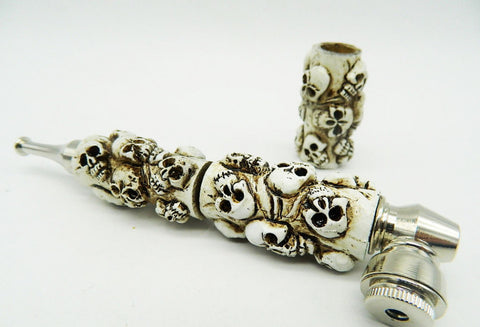 GHOST WHITE SKULL PIPE