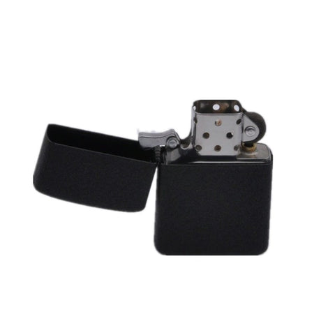 Fire Retro Metal Black Frosted Windproof Lighters