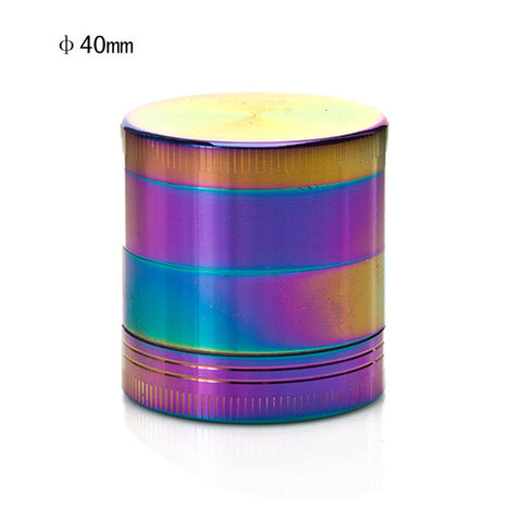 Metallic Rainbow Colorful 4 Pieces Herb Grinder