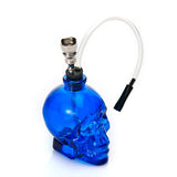 Skull Head 6 Colors Glass Water Pipe