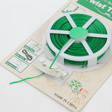 164ft 50m Green Plastic Twist Tie Wire Spool roll with Cutter