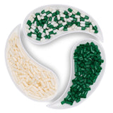 (5000 Pieces / Carton) Green & White,Separated Empty Gelatin Capsules