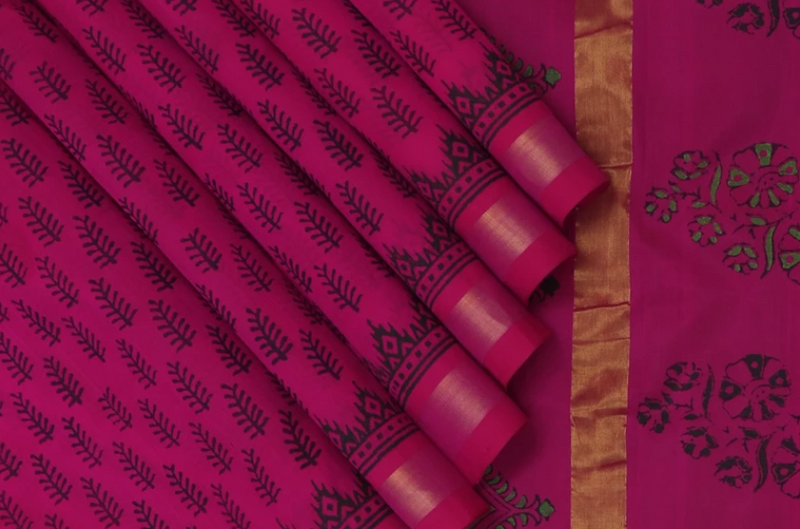 Block Printed Sarees: All-time favourites for anytime wear!