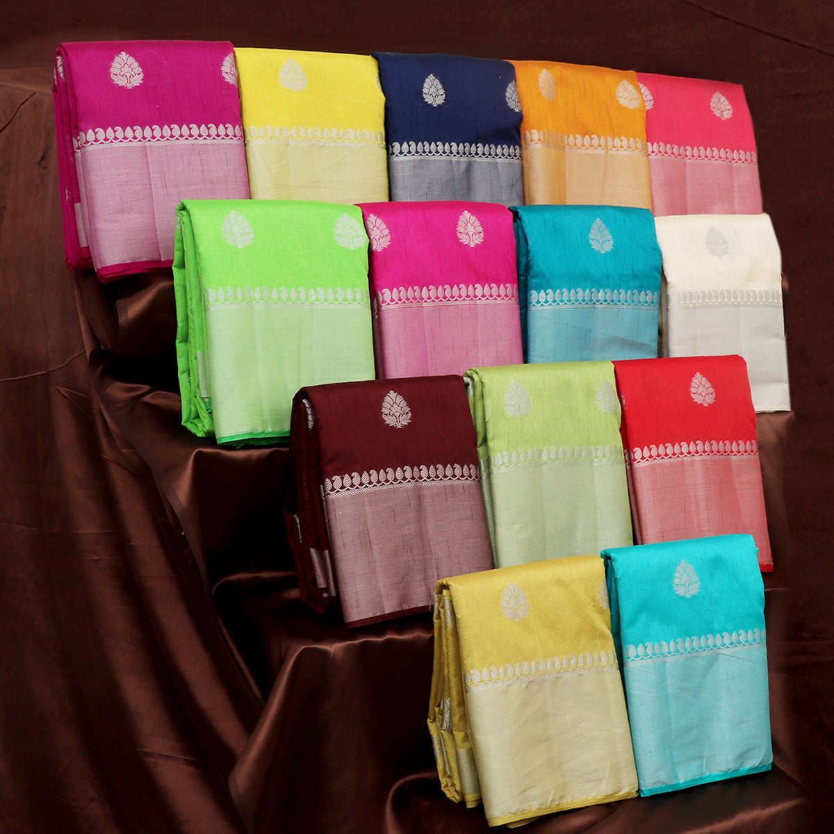 Raw Silk Sarees Gift Pack of 14