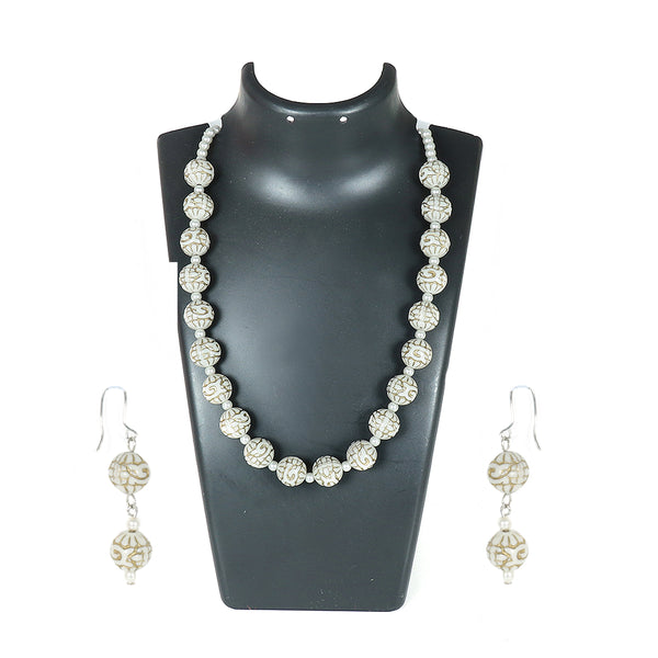 White and Golden Chinese Beads