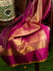Pure Kanjivaram silk saree magenta with rettpet border pure zari