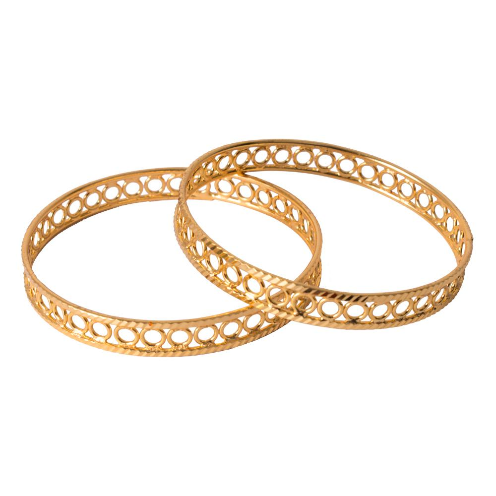 Carved gold bangles