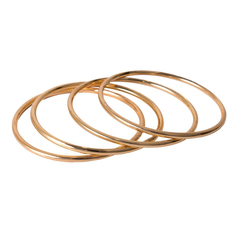 Simple gold bangles