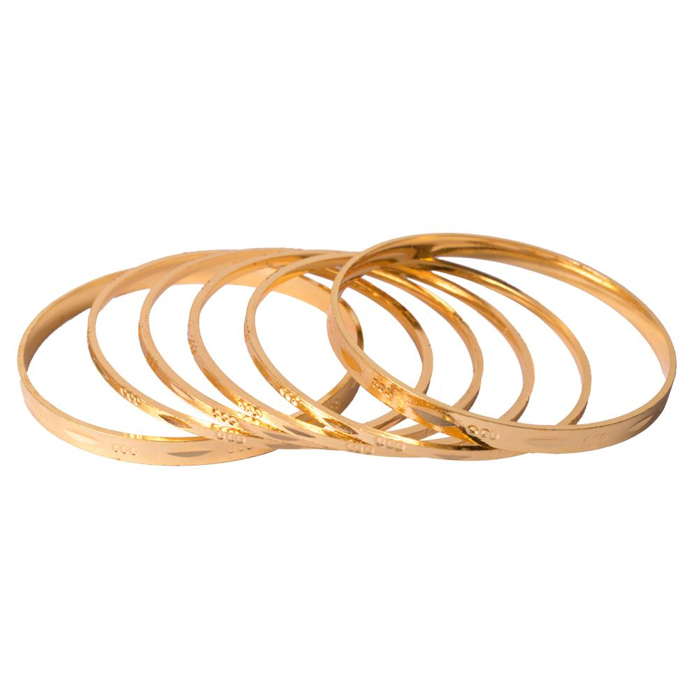 Simple matte gold bangles