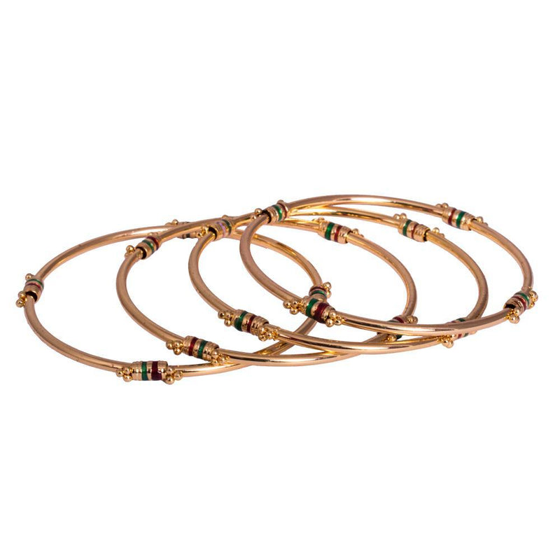 chunky gold plated bangles