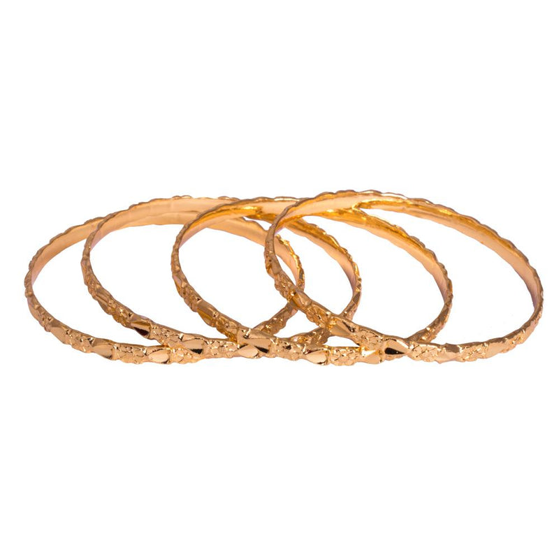Knotted gold plated bangles for Rs.Rs. 500.00 | Bangles by Prashanti Sarees