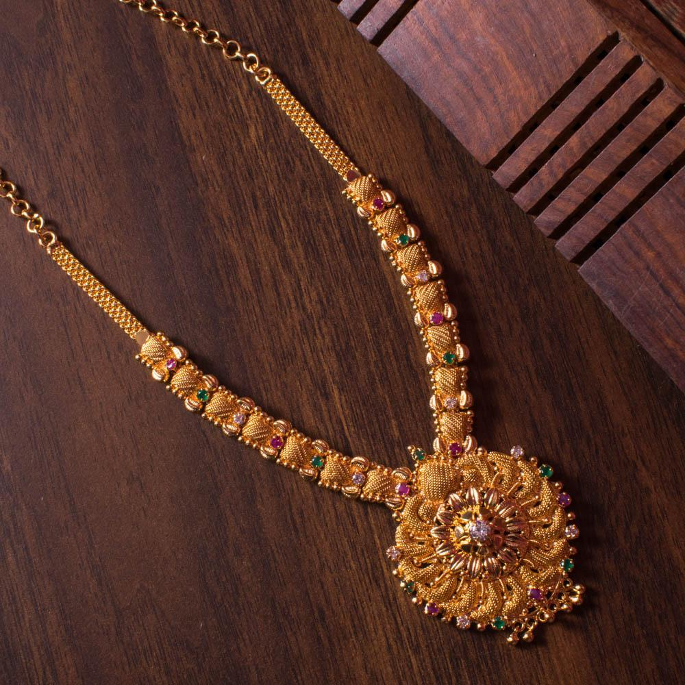 Heavy gold necklace for Rs.Rs. 800.00 | Temple Jewellery by Prashanti Sarees