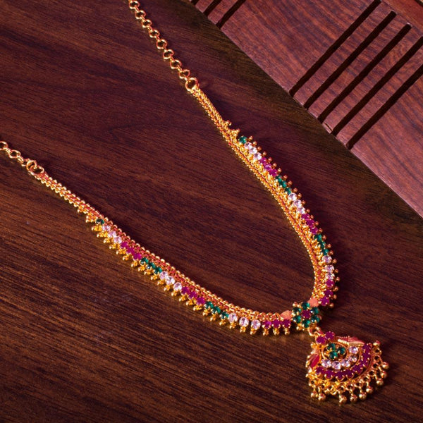 Multicolour stone necklace
