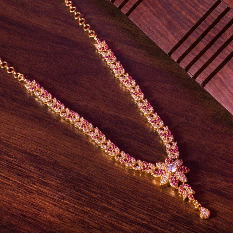 Ruby zircon necklace