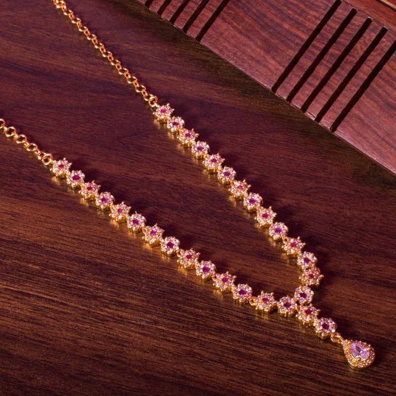 Zircon floral necklace