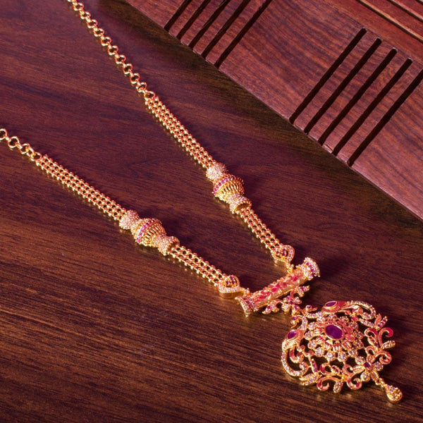 Gold pink necklace