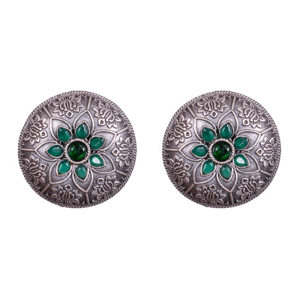 Circular stylish carved earrings
